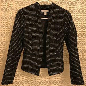 H&M black textured blazer